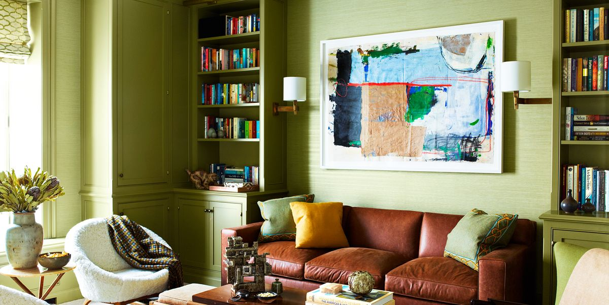 22 Best Green Living Rooms Ideas For, Paint Colors For Living Room Walls With Brown Furniture