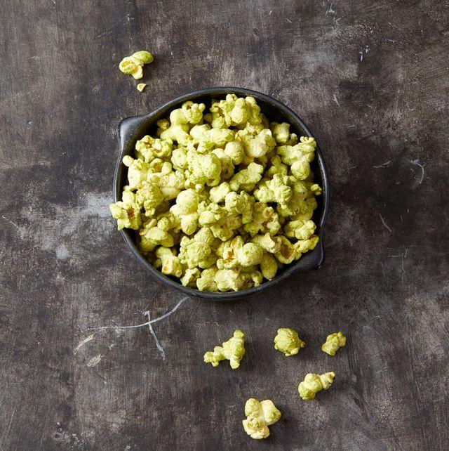 green matcha popcorn