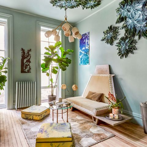 green lounge room by maryline damour