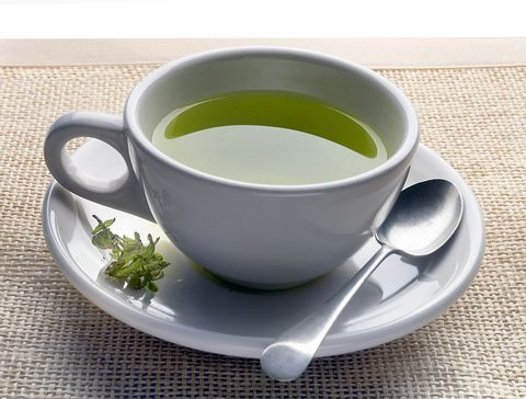 green tea on mat