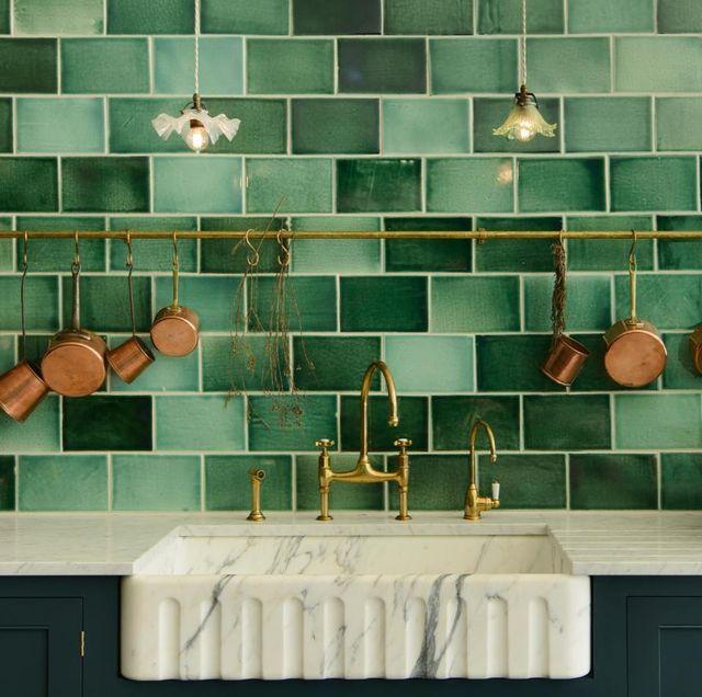 devol kitchens emerald green london tile