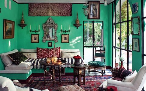Living room, Room, Green, Interior design, Furniture, Turquoise, Blue, Property, Couch, House,