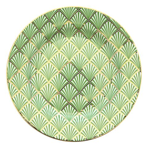 plato con detalles art deco