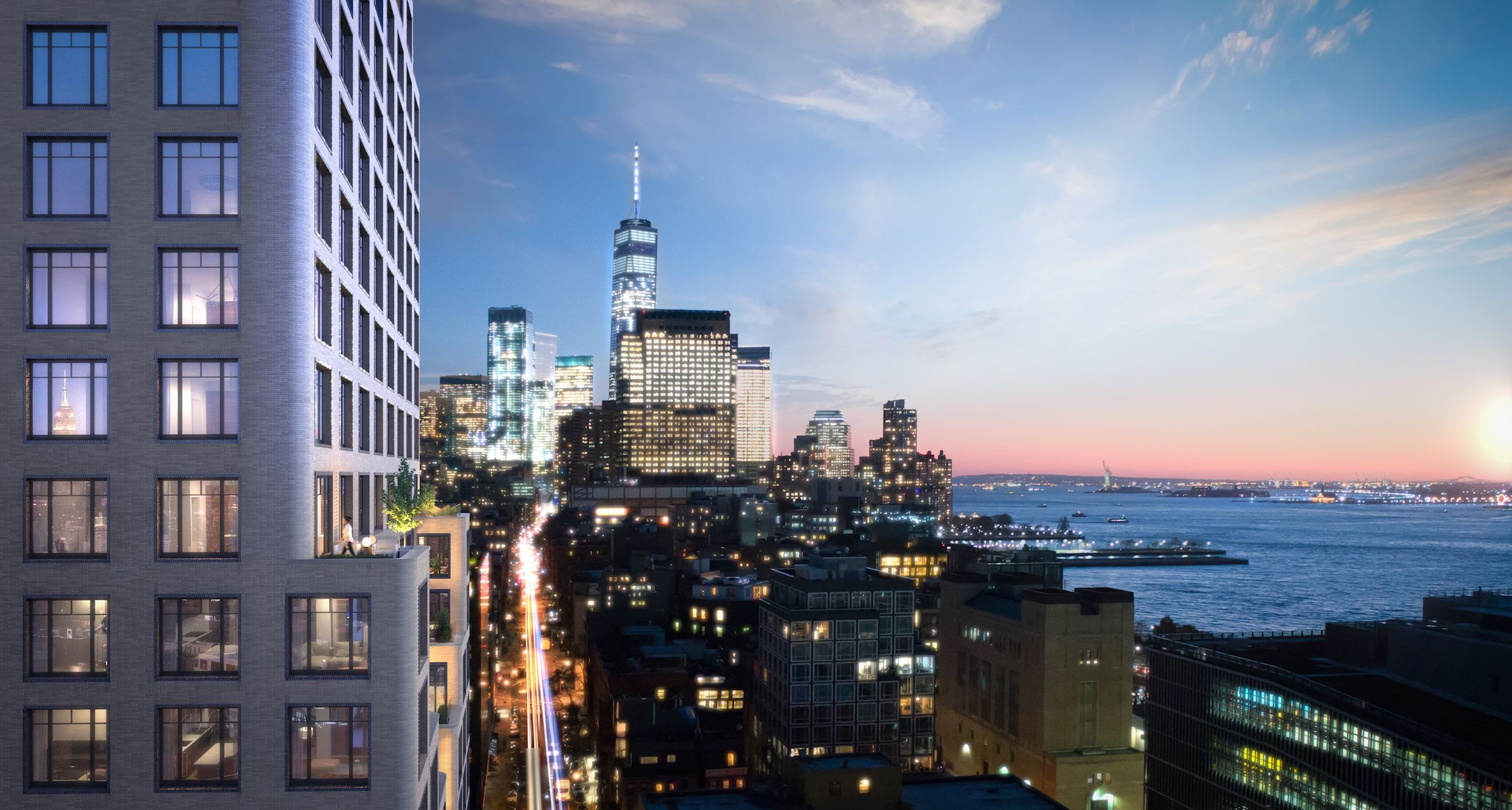 These Sunset Views at the New Greenwich West Building are Luxuriously Dreamy