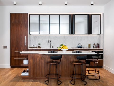 Countertop, Furniture, Room, Cabinetry, Kitchen, Interior design, Property, Table, Building, Ceiling,