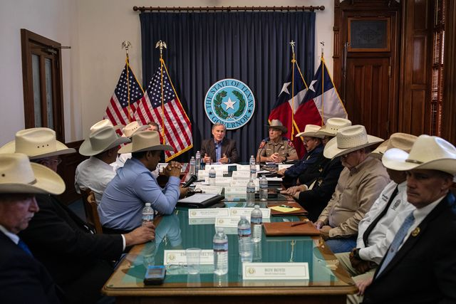 austin, tx   july 10 texas gov greg abbott speaks during a border security briefing with sheriffs from border communities at the texas state capitol on july 10 in austin, texas border security is among the priority items on gov abbotts agenda for the 87th legislatures special session photo by tamir kalifagetty images