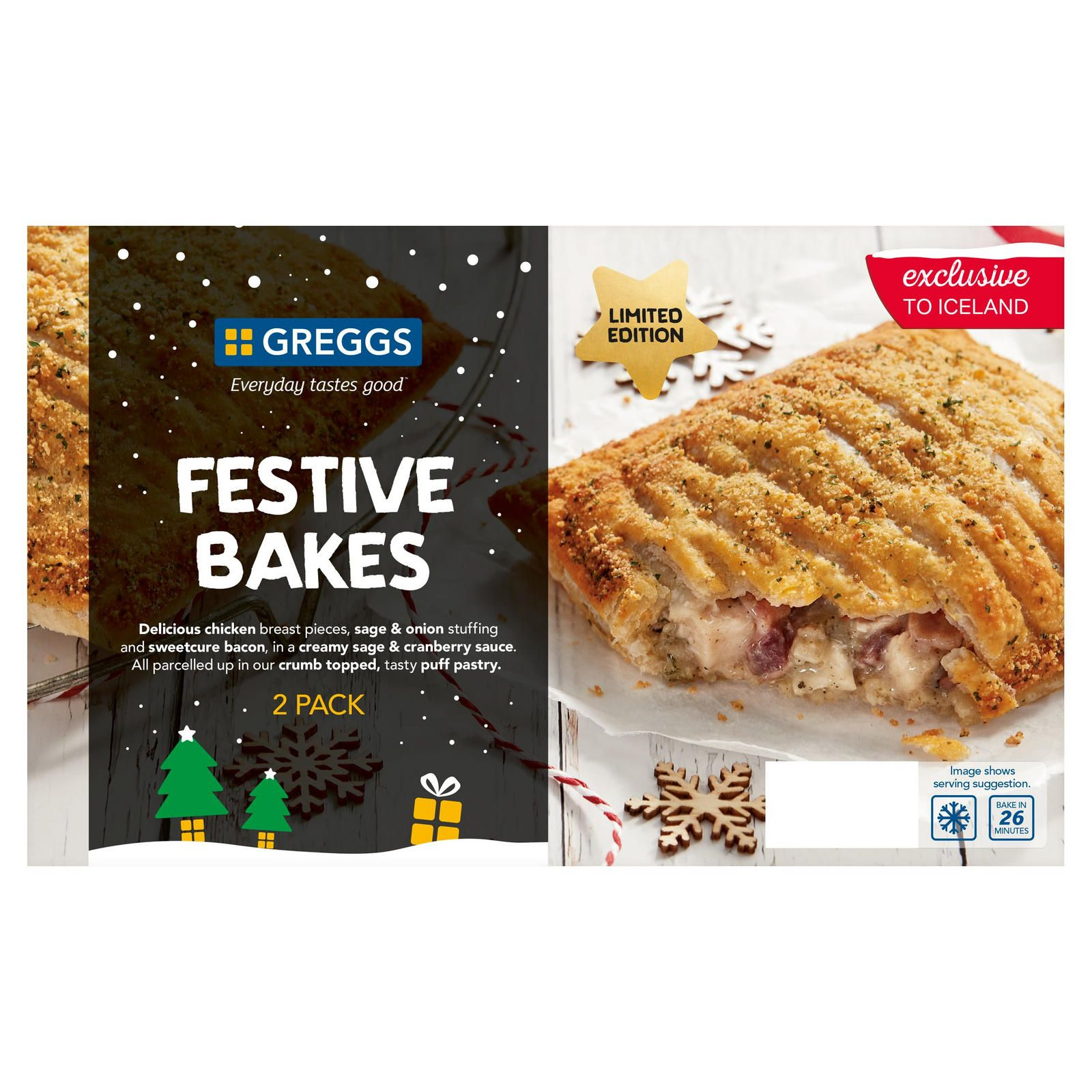Iceland Is Selling Greggs' Frozen Festive Bakes Again