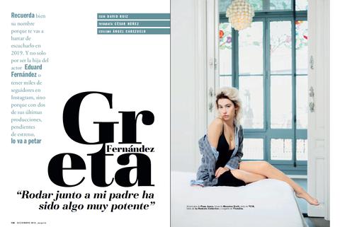 Greta Fernández Esquire diciembre