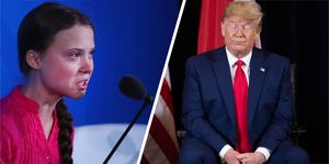 Greta Thunberg, Donald Trump, climate change