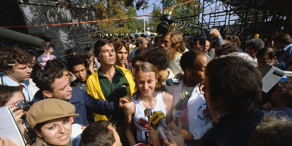 Reporters Interviewing Grete Waitz