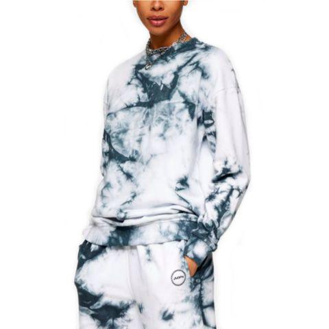 grey all or nothing tie dye sweatshirt