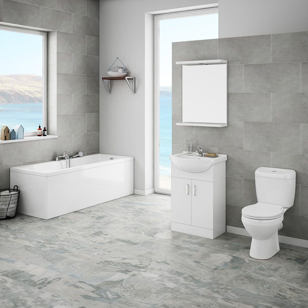 Grey bathroom - Victorian Plumbing