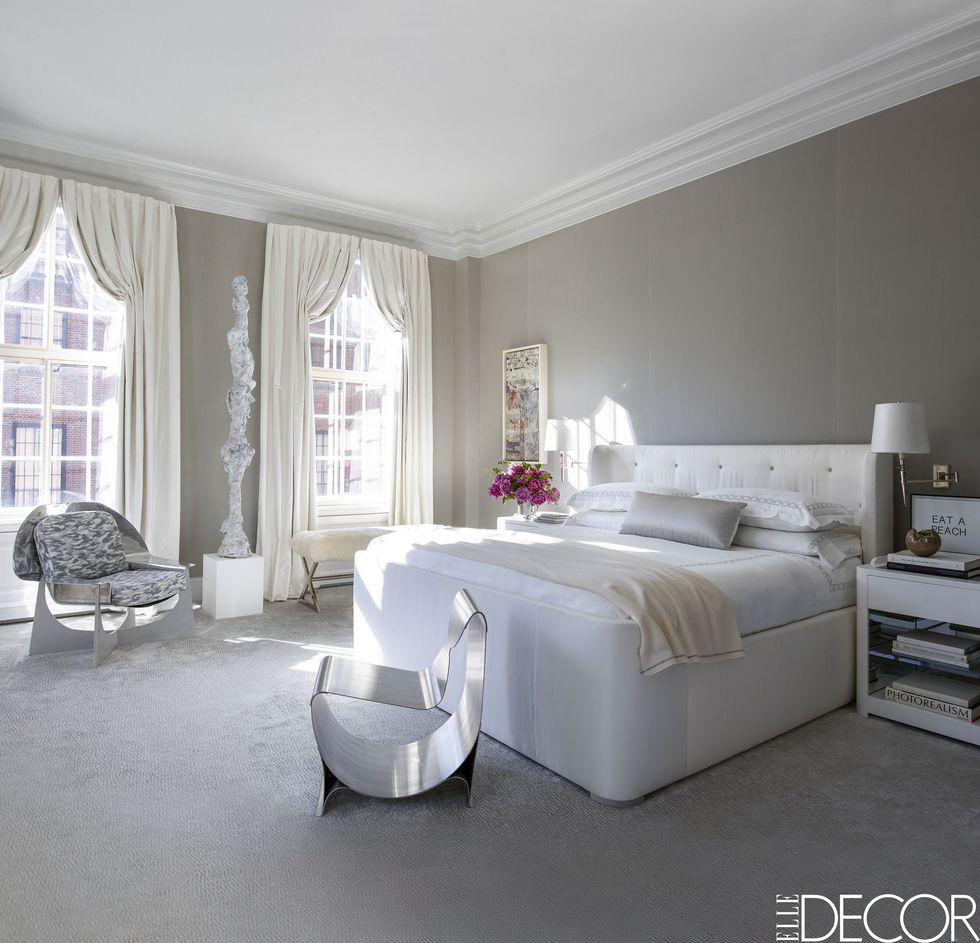 20 stylish gray bedrooms ideas for gray walls furniture decor rh elledecor com bedroom decor with grey walls bedrooms with gray walls