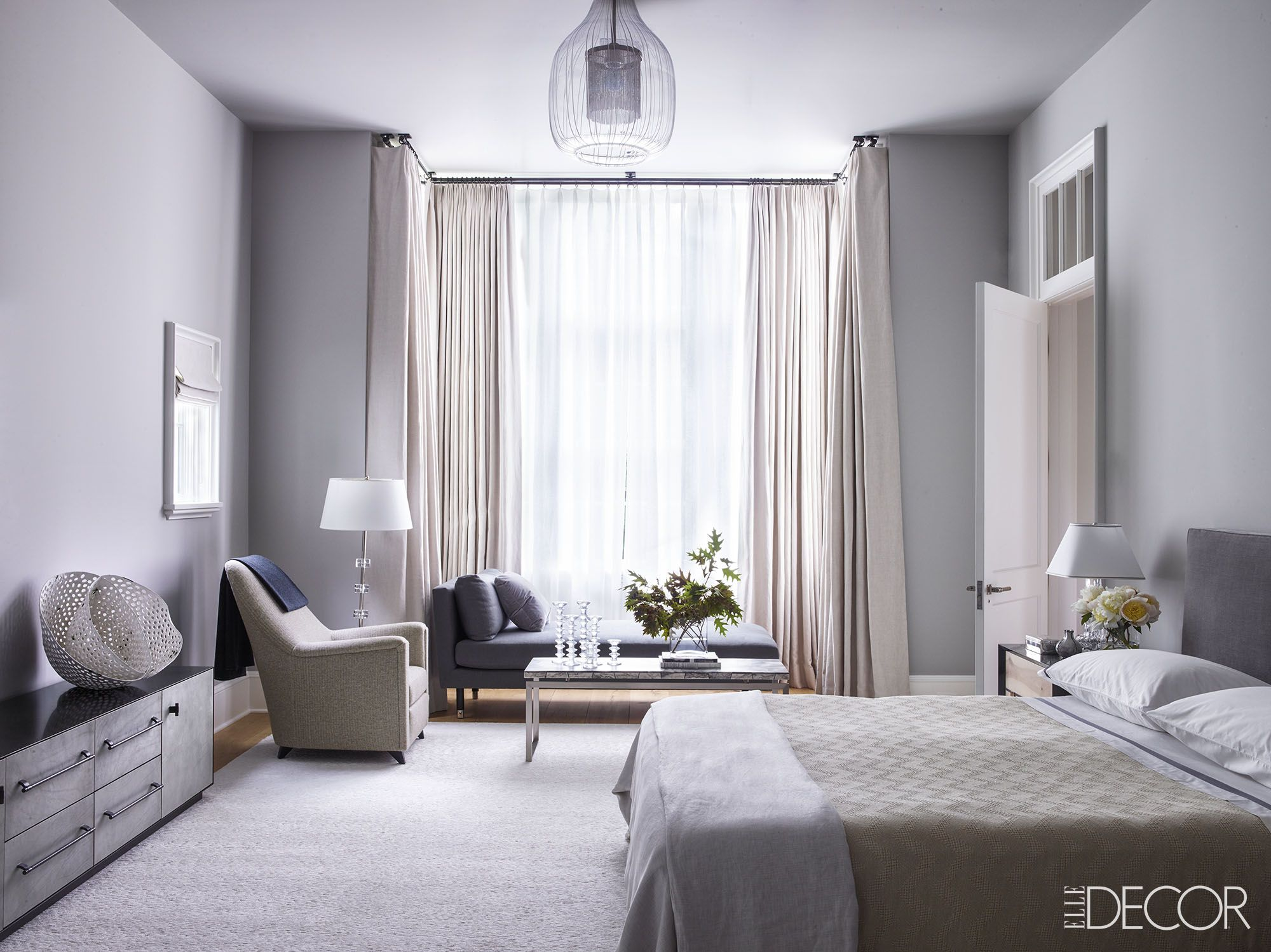 Nice Grey Bedrooms Part - 6: Elle Decor