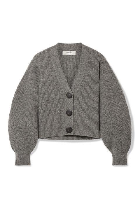 grey cardigan - katie holmes cardigan