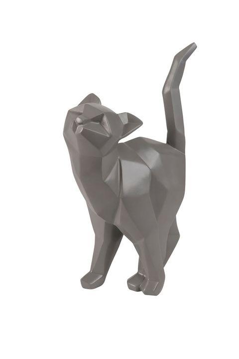 grey cat sculpture - fashion halloween decor