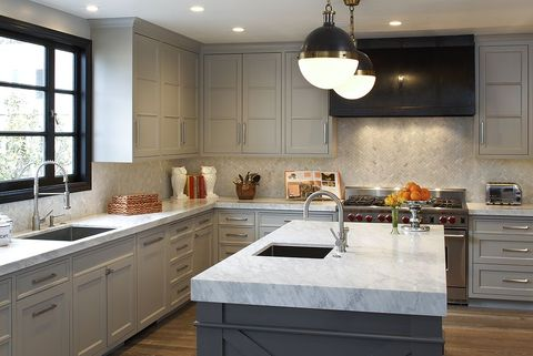 14 Best Grey Kitchen Cabinets - Design Ideas with Grey Cabinets Kitchens With Grey Cabinets on black appliances grey cabinets, kitchens blue cabinets, kitchens with grey tile, kitchens with grey hardwood floors, charcoal gray kitchen cabinets, beautiful gray kitchen cabinets, kitchens red cabinets, gray kitchen walls with oak cabinets, grey wash kitchen cabinets, kitchens with grey dining tables, grey colored kitchen cabinets, painting kitchen cabinets, kitchen backsplash ideas with gray cabinets, dark-gray kitchen cabinets, grey gray kitchen cabinets, kitchens with grey counters, kitchens with grey granite, white kitchen cabinets, kitchens brown cabinets, best gray for cabinets,