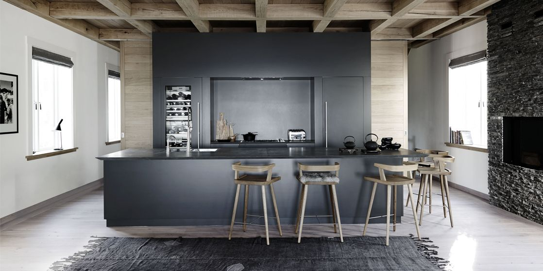 grey kitchen : kitchen-ideas - designwebi.com