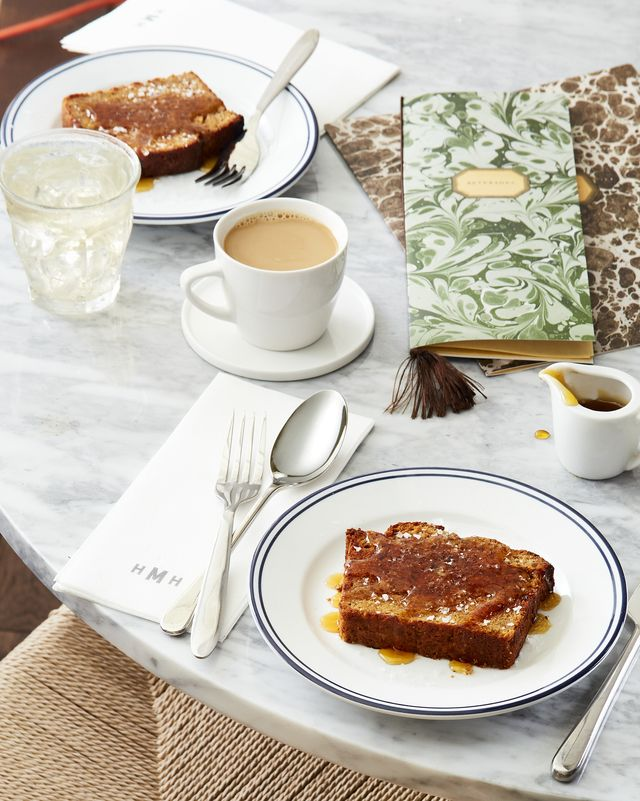 griddled banana bread with sorghum syrup