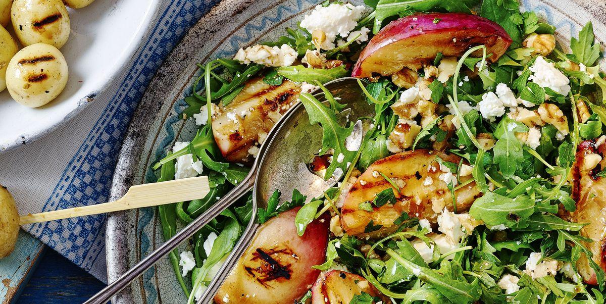 Griddled Nectarine and Feta Salad