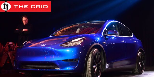 tesla ceo elon musk views the new tesla model y at its unveiling in hawthorne, california on march 14, 2019 photo by frederic j brown  afp        photo credit should read frederic j brownafp via getty images