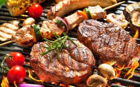 Food, Cuisine, Roasting, Churrasco food, Meat, Ingredient, Brochette, Cooking, Dish, Grilling,