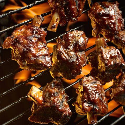 Dish, Food, Cuisine, Barbecue, Yakitori, Ingredient, Brochette, Anticuchos, Sate kambing, Grilling,