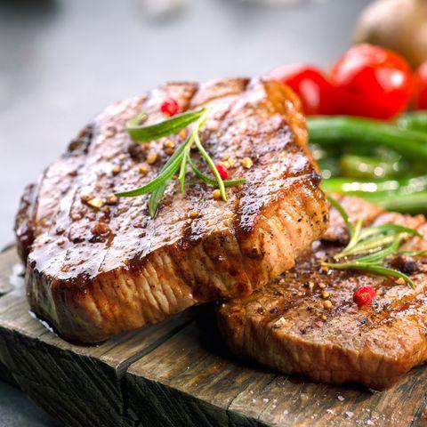 grilled beef steaks