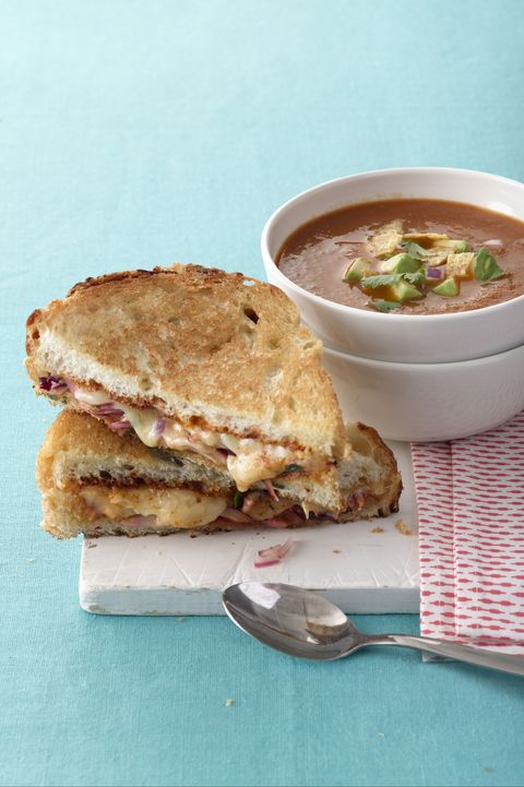 tomato soup tex mex grilled cheese