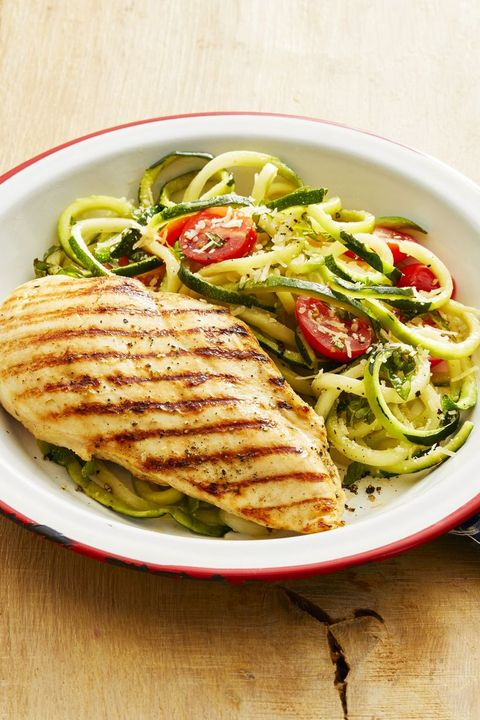 grilled chicken and zucchini noodles