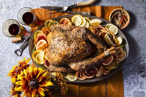 grilled citrus and spice turkey