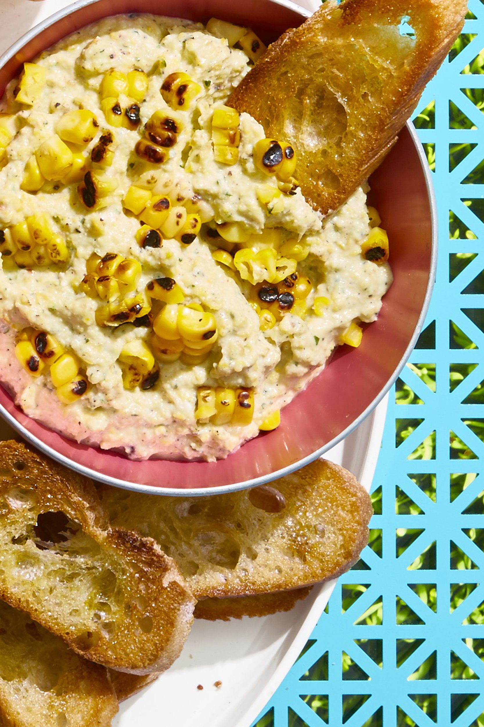 Grilled Corn and Ricotta Dip