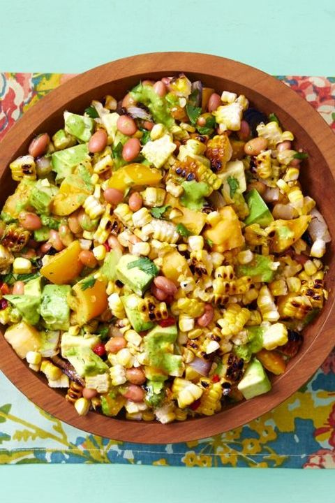 grilled corn salad with cilantro vinaigrette