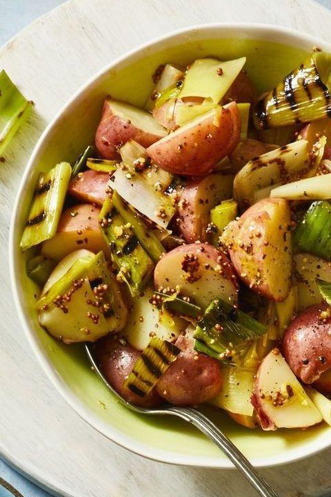 grilled leek potato salad