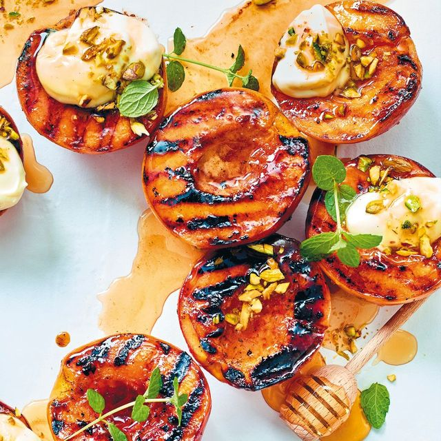 grilled peaches and honey recipe