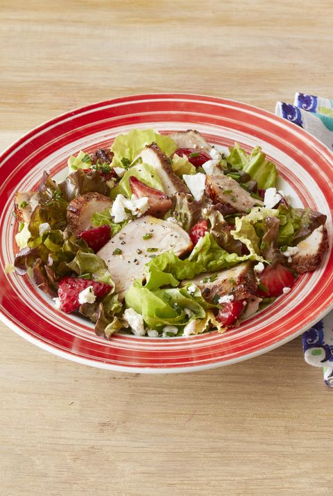 grilled pork salad with strawberries