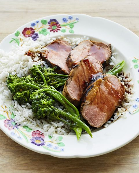 grilled pork tenderloin with broccolini