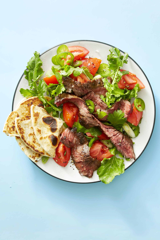grilled steak tortilla salad