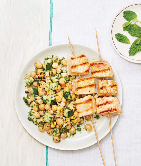 grilled swordfish  summer salad