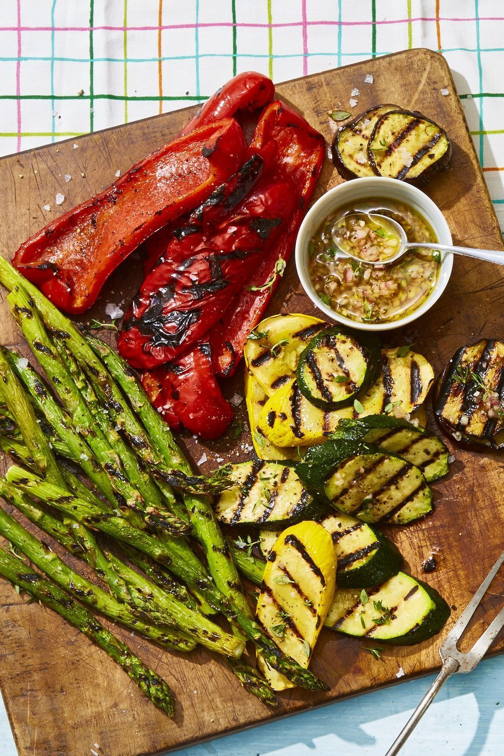 grilled veggies with honey-thyme vinaigrette