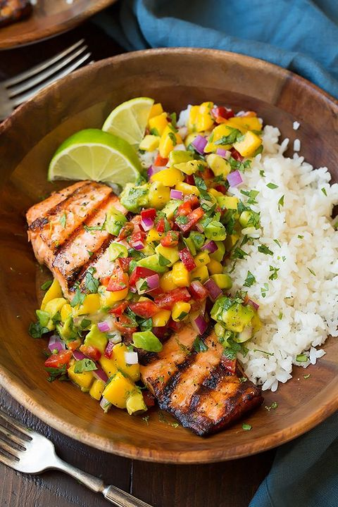 grilling recipes salmon bowls