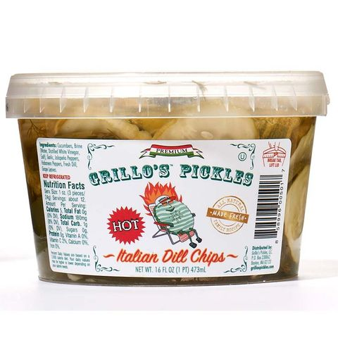 Grillo's Pickles Hot Italian Dill Chips
