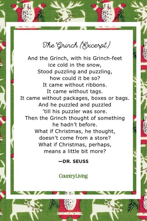 The Grinch Christmas Poems for Kids