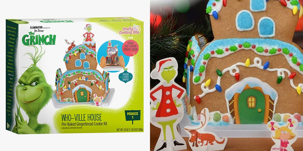 Christmas Gingerbread House Kit.Grinch Whoville Gingerbread House Kit