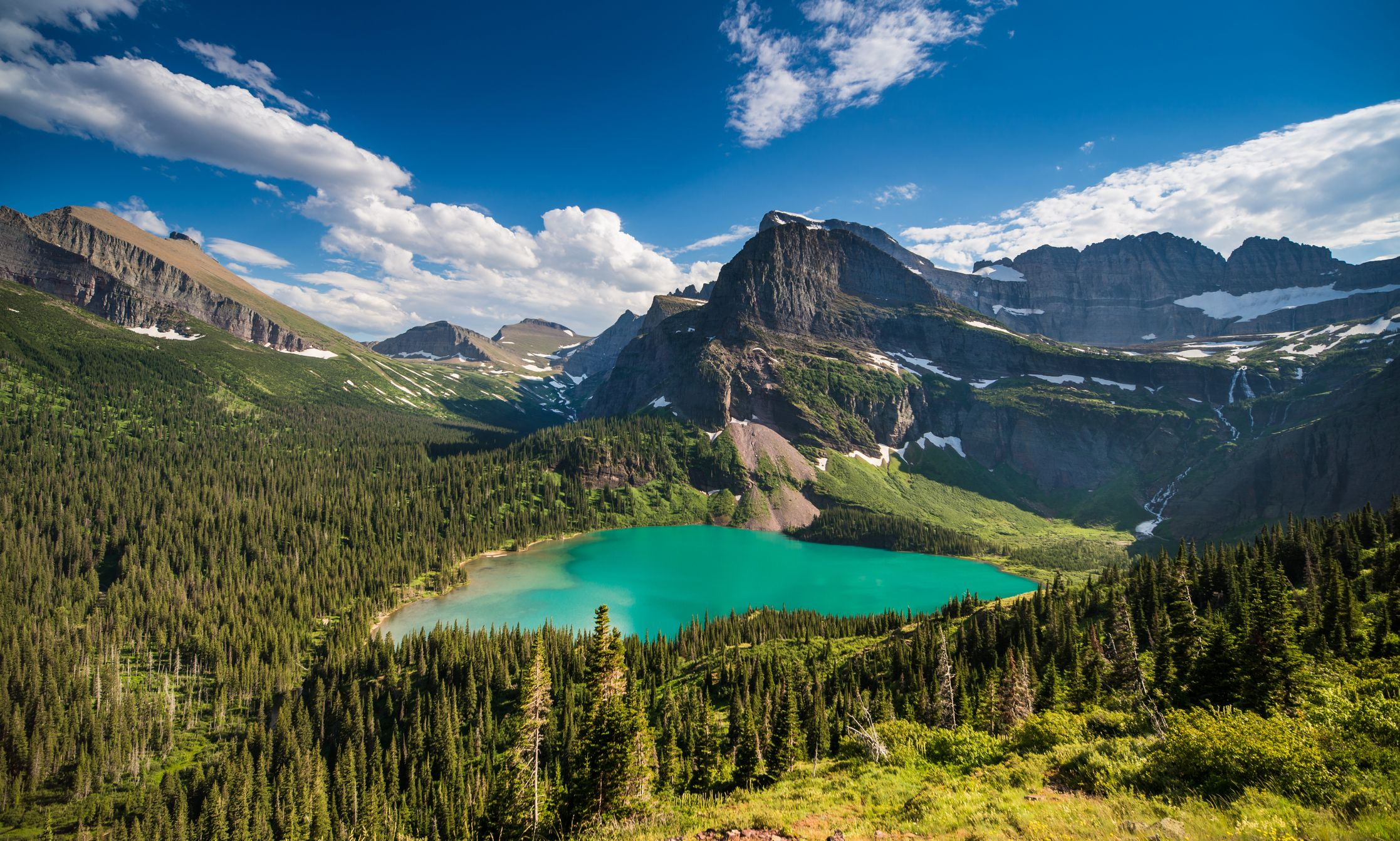 Grinnell Lake in Glacier National Park
