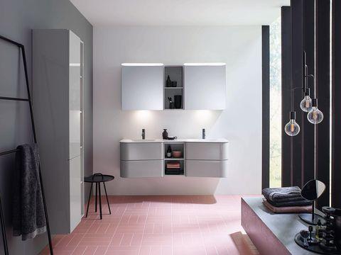 baño moderno diseñado en color gris