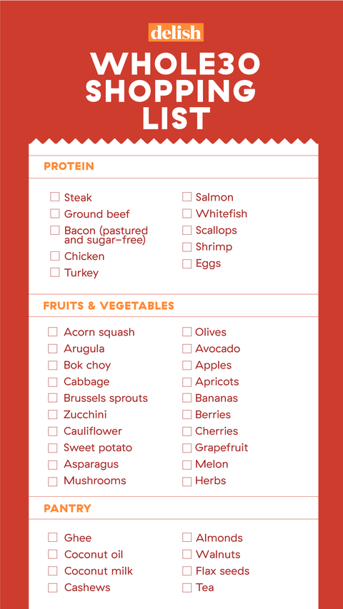 what can i eat on a whole30 diet