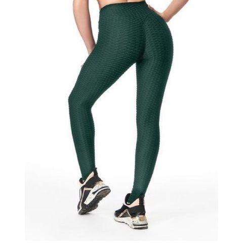 feelj sportlegging dames high waist   anti cellulite – groen