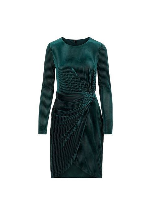 Clothing, Dress, Green, Sleeve, Turquoise, Day dress, Cocktail dress, Teal, Jersey, Pattern,