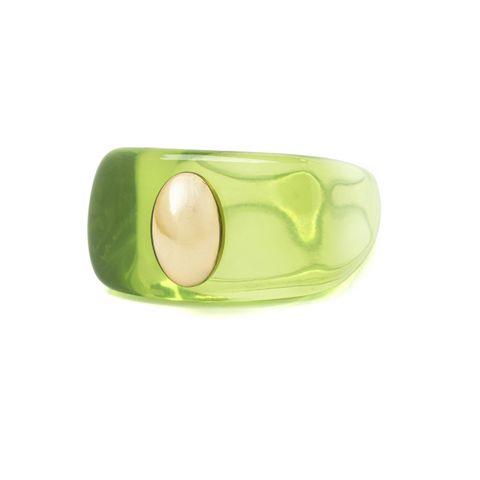 lichtgroene ring pagan en vegan van la manso